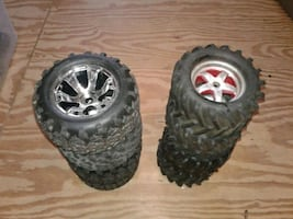 RC WHEELS AND TIRES   TRAXXAS 1/8 scale Revo wheels and tires for RC 1
