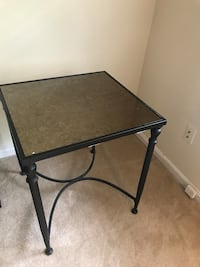 rectangular black metal framed glass top table Gaithersburg, 20879