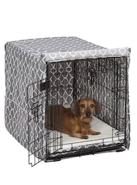 Geometric dog crate cover for 30in crate Oakley, 94561