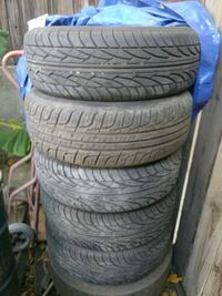 four black rubber car tires Bakersfield, 93305