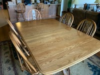 Set of Oak Table, Chairs, and Barstools West Plains, 65775