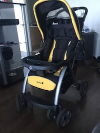 Black & Yellow Safety 1st Stroller Good Condition