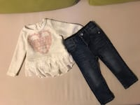 Jessica Simpson toddler jeans and top - size (12M)- Edmonton, T6J 5X8
