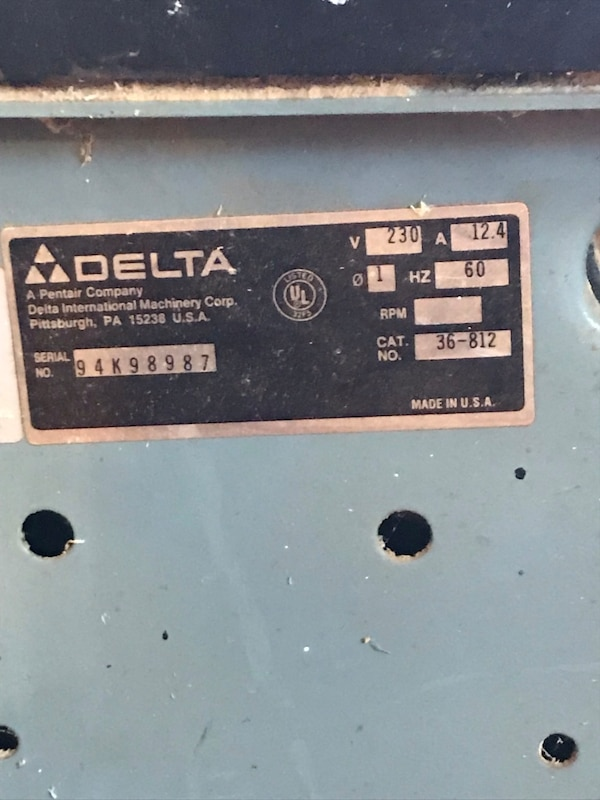 Delta Unisaw cabinet makers table saw