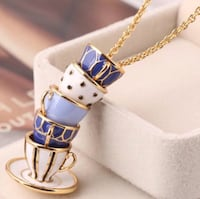 Kate Spade-like cup tower necklace