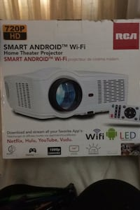 Smart android Wi-Fi projector RCA home theater