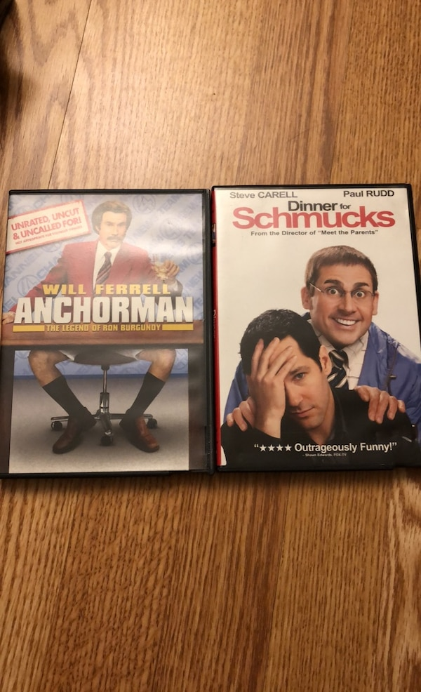 Anchorman & Dinner for Schmucks dvds 10e88a88-e585-4d56-8f7b-c25d573fd024