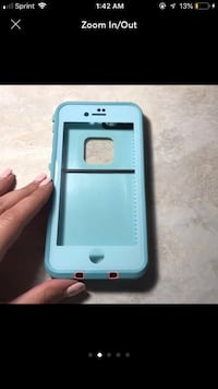 white and blue Otter Box iPhone case Springfield, 22153