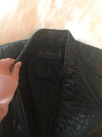 black leather zip-up jacket Surrey, V3Z 3Y3