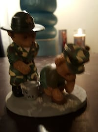 two bear ceramic figurines