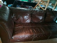 brown leather 3-seat sofa Silver Spring, 20904