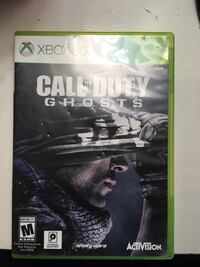 Xbox 360 Call of Duty Ghosts game case Waldorf, 20602
