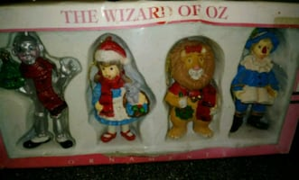 ANTIQUE WIZARD OF OZ CHRISTMAS ORNAMENTS (SET OF 4)