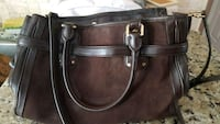 Brown suede Michael Kors handbag Hartford