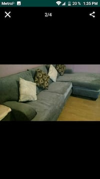 gray suede sectional sofa screenshot Los Angeles, 90006