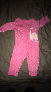 baby's pink and white polka dot footie pajama McAllen, 78504