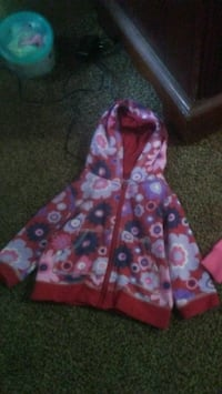 pink and white floral zip-up hoodie Beckley, 25801