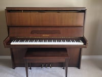 Petrof Piano upright grand 48 inch Walnut wood with bench  Hamilton, L8E 5M8