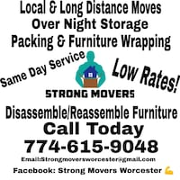 Local moving Worcester, 01609