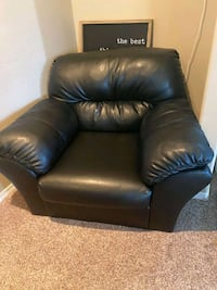 2 Oversized Comfortable Leather Chairs