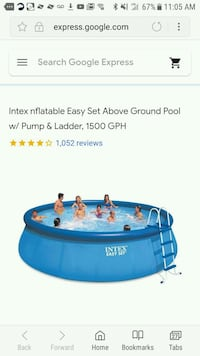 blue Intex above ground pool with pump/ladder   Washington