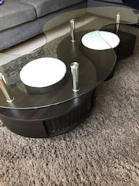 Seralda Coffee Table with 2 ottomans Mississauga, L4Y 3P5