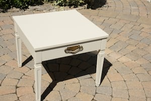 Refinished Small Vintage Coffee Table with Drawer, or Large End Table