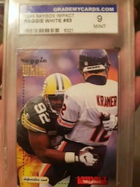 Mint condition Reggie White trading card