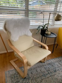 Leather Poang armchair