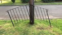 Two wrought iron railings for front steps Braintree