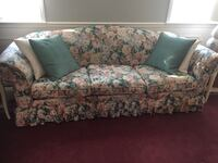 White, teal, and pink floral 3-seat sofa Laurel, 20707