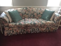 White and pink floral 3-seat sofa Laurel, 20707