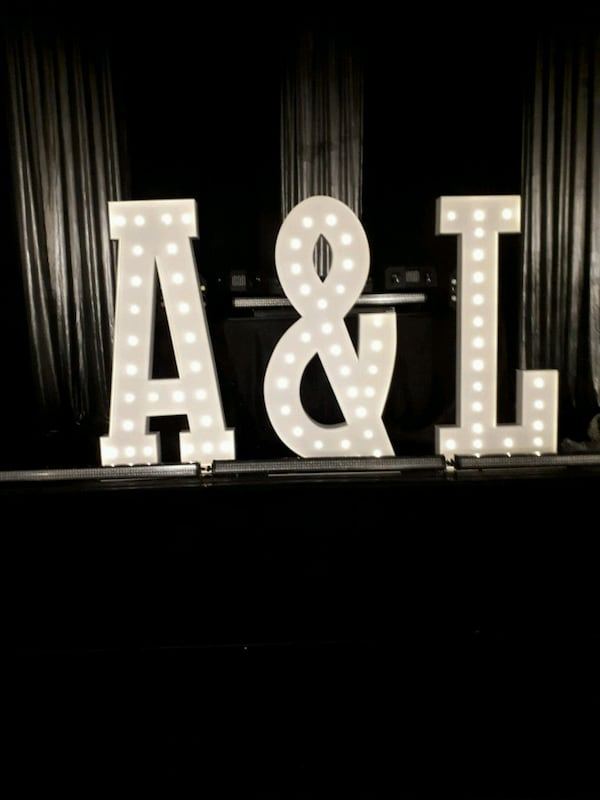 MARQUEE Letters & Numbers 4ft tall$50 ea. rental  62d425ea-ef7f-4016-8a9c-4901b53bc9e0