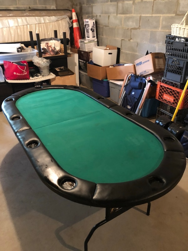 Sold Pitboss Folding Poker Table Used In Eastchester Letgo