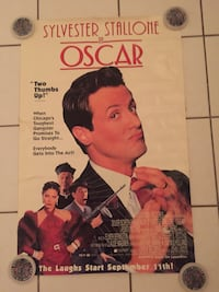 "Vintage Sylvester Stallone 1991 Movie OSCAR Promotion Poster 40"" X 26"" Myrtle Beach"