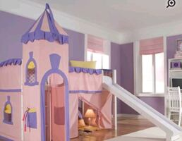 Girl bed with slide
