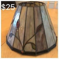 Stained glass lamp shade Manlius, 13104