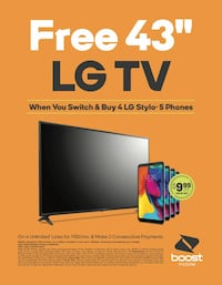 Switch To Boost! FREE LG TV! Ask Me How!