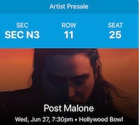 Post Malone Tickets Los Angeles
