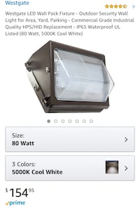 Westgate LED Wall Pack Fixture - Outdoor Security Wall Light for Area, Yard, Parking - Commercial Grade Industrial Quality HPS/HID Replacement - IP65 Waterproof UL Listed (80 Watt, 5000K Cool White) Bakersfield, 93313
