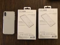 Two Clear Tech21 iPhone X cases