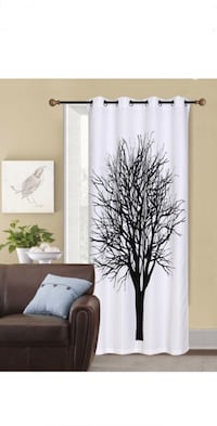 2 curtains with tree design opaque Mont-Royal, H3R 3H6