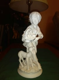 Ceramic boy with dog