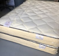 Queen Mattress with Box Spring Brand New Nice Quilted Chula Vista