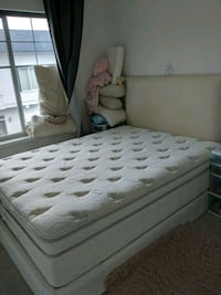 Simmons Double bed with base board and headboard Surrey, V3R 0Y6
