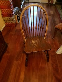 brown wooden chair. 4 set Springfield