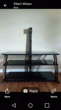 black glass TV stand with mount Richmond, 40475