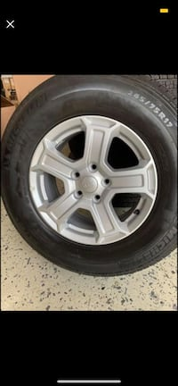 Set of 5 rims and tires Alexandria, 22304