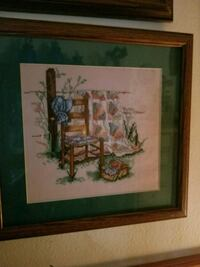 Hand stitched/Matted and framed picture by me Bossier City, 71112