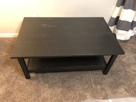 Black brown coffee table